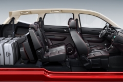 Салон автомобиля Lifan MYWAY со сложенными сиденьями 3 ряда