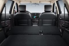 Салон автомобиля Lifan MYWAY со сложенными 2 и 3 рядами сидений